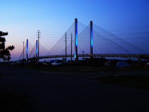 James River Bridge at dusk  Rehoboth Beach, Delaware