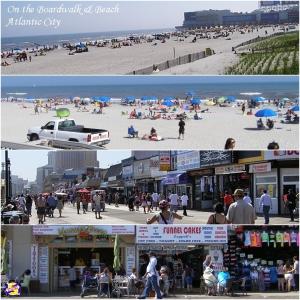 Boardwalk & Beach in Atlantic City