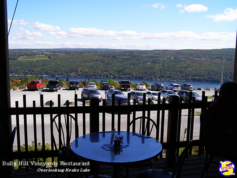 Bully Hill Vineyards Restaurant overlooking Keuka Lake