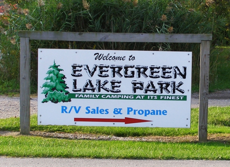 Evergreen Lake Park in Conneaut, Ohio