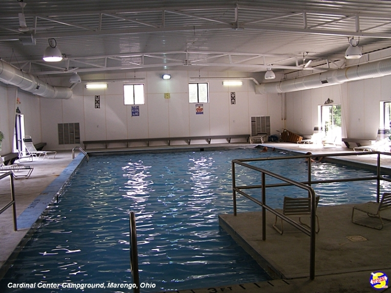 Indoor heated pool at the Cardinal Center Campground, Marengo, Ohio