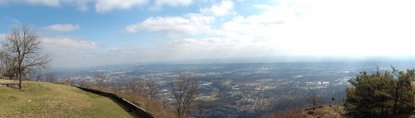 View from the top of Lookout Mountain
