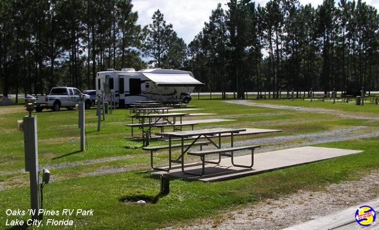 Oaks 'N Pines RV Park, Lake City, Florida hust off I-10