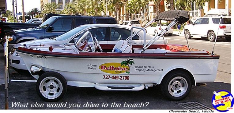 Boatmobile on Cleawater Beach