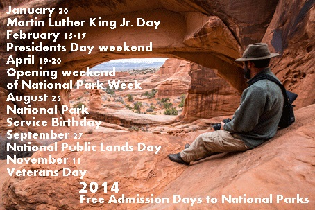2014 Free National Park Admission Days