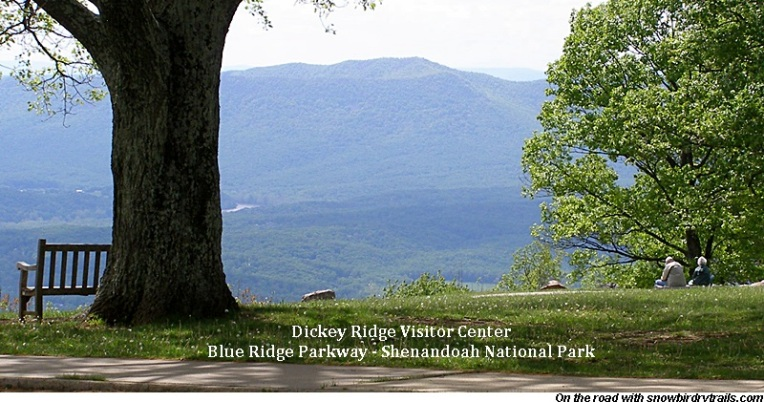 Dickey Ridge Visitor Center on the Blue Ridge Parkway