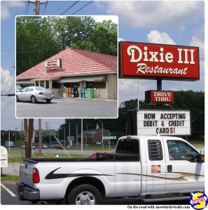 The Dixie III Restaurant in Asheboro, NC