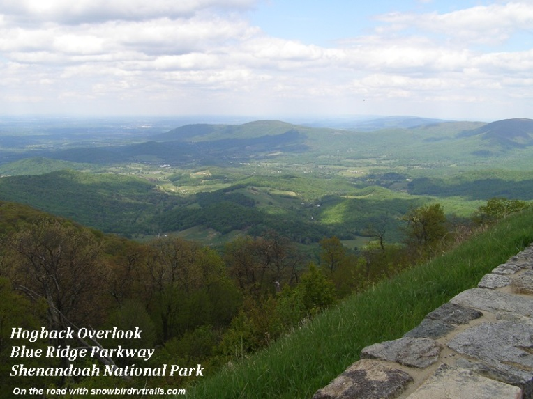 Hogback Overlook on the Blue Ridge Parkway