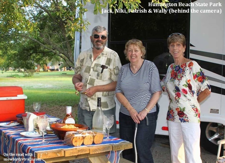A picnic with old friends at Huntington Beach State Park