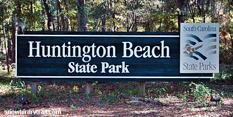 Entering Huntington Beach State Park in Murrells Inlet,