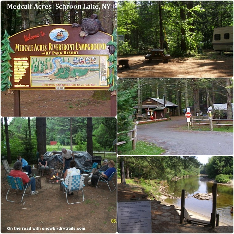 Medcalf Acres Riverfront Campground & RV Park Resort in Schroon Lake, NY