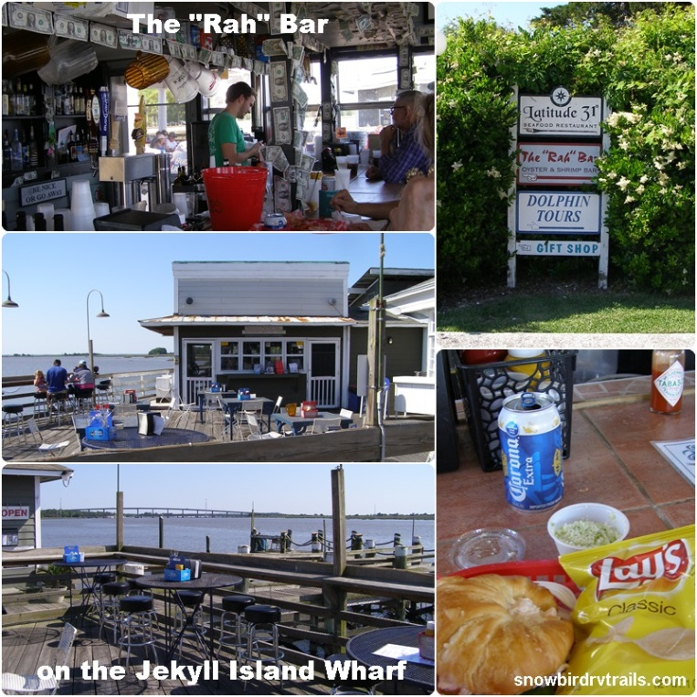 "Lunch at the ""Rah"" Bar on the  Jekyll Island Wharf"