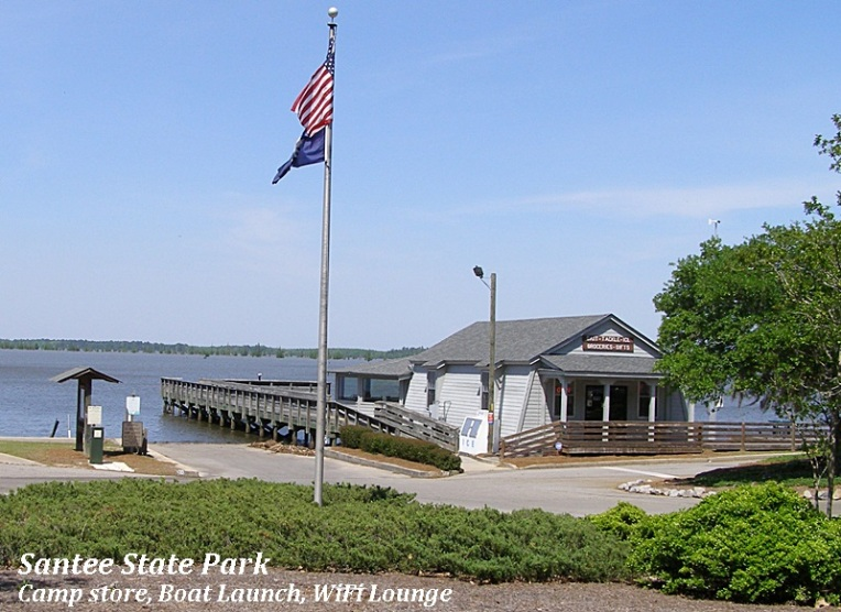 Santee State Park store and boat launch