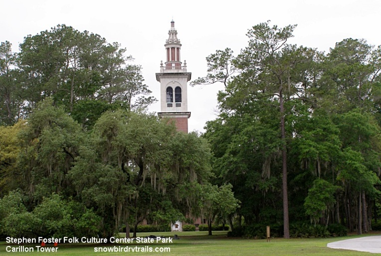 Carillon Tower in Stephen Foster Folk  Culture Center State Park
