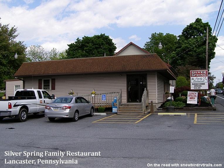 Silver Spring Family Restaurant in Lancaster. Pennsylvania