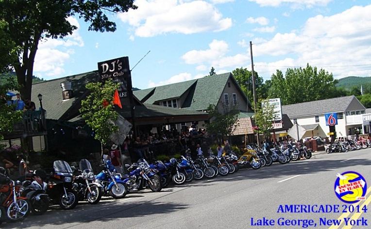 Bikes Lining Main St at Americade 2014