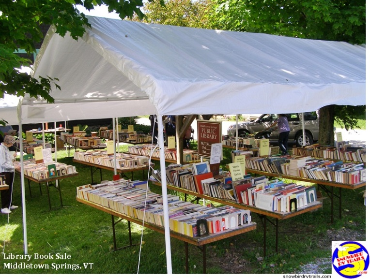 Book Sale on the lawn at the Middletown Springs Public Library
