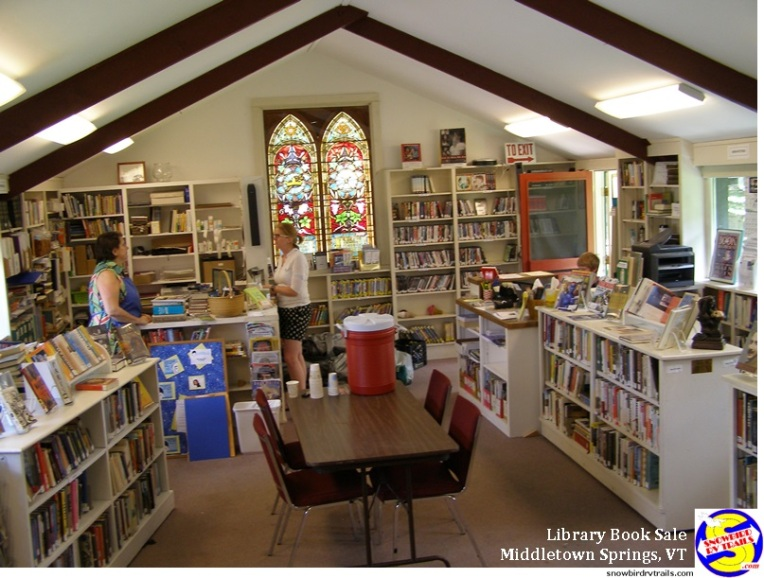 Middletown Springs Public Library in the former Episcopal Church