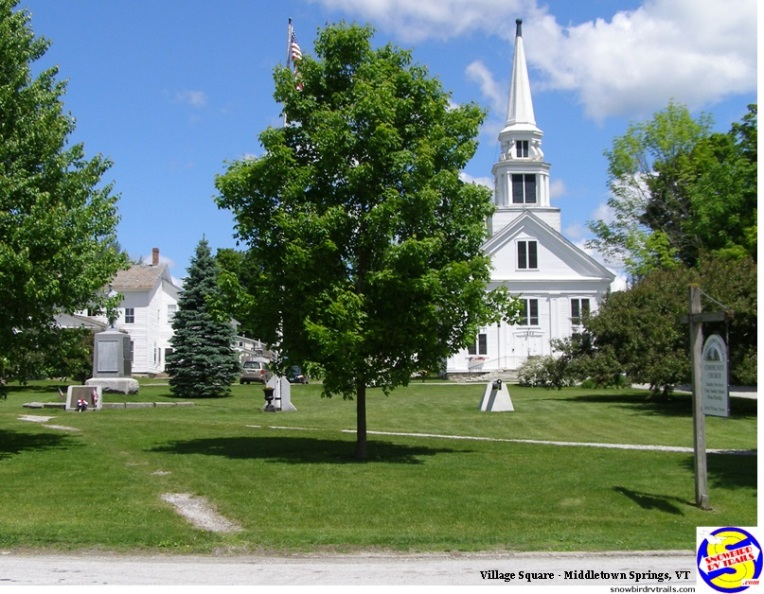 Town Square in Middletown Springs, Vermont