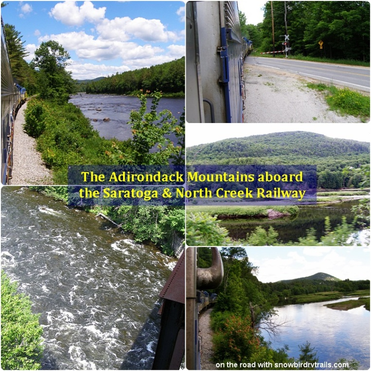 The beautiful Adirondack Mountains by train