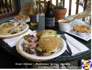 Good food at Sissy's Kitchen in Middletown Springs Vermont