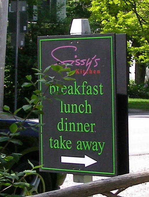 This is the place! Sissy's Kitchen in Middletown Springs Vermont