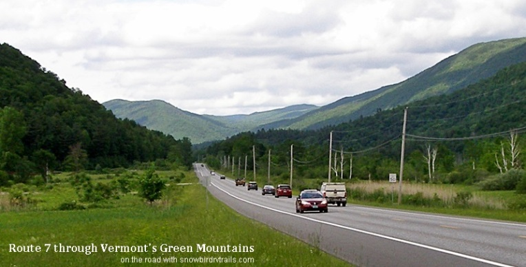 Route 7 through Vermont's Green Mountains