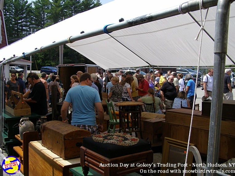 Auction action at Gokey's Trading Post the 1st Saturday of each Summer month