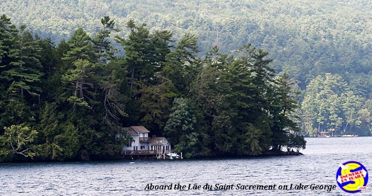 Views along the shoreline of Lake George in the Adirondacks
