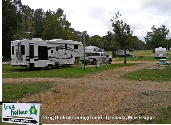 Frog Hollow Camp Ground and RV Park in Grenada, MS