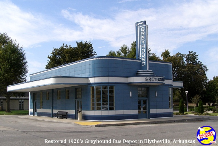Historic Greyhound Bus Depot in Blytheville, Arkansas