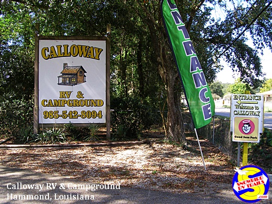Calloway RV and Campground in Hammond, Louisiana