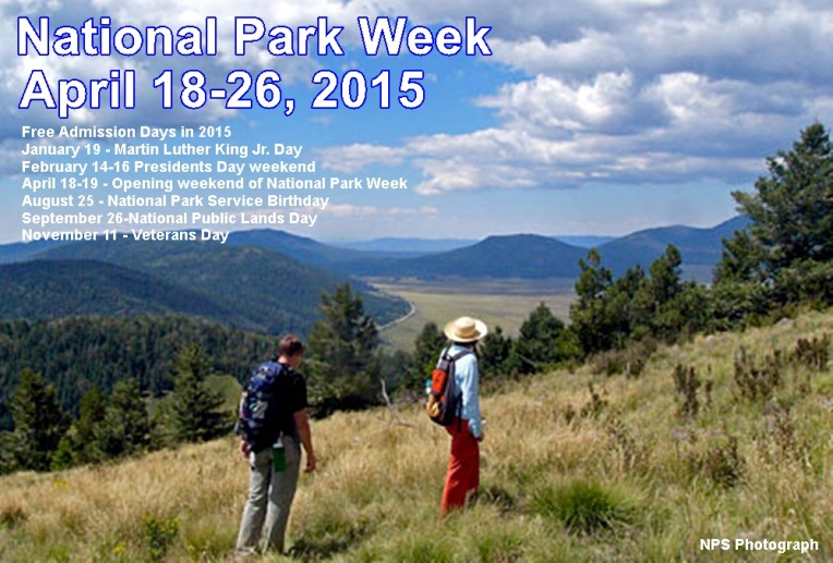 National Park Week and Free Admission Days