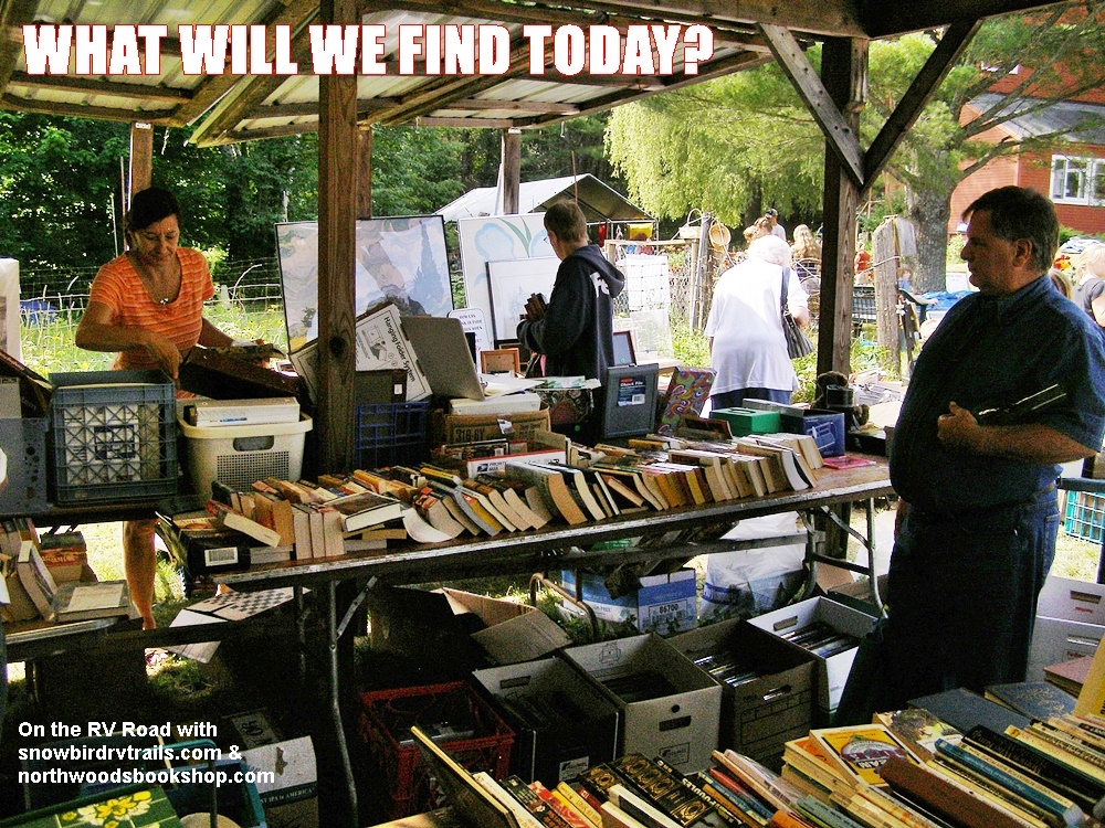 There may be gold on those book sale tables!