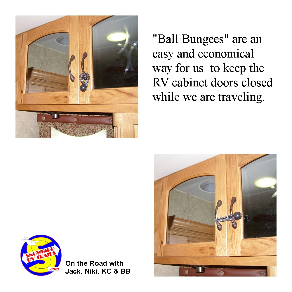 Easy way to Keep RV cabinet doors closed on the road