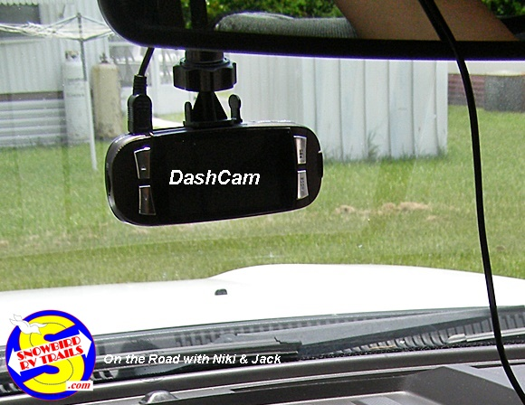 RV trips can be recorded and stored with a Dash Cam