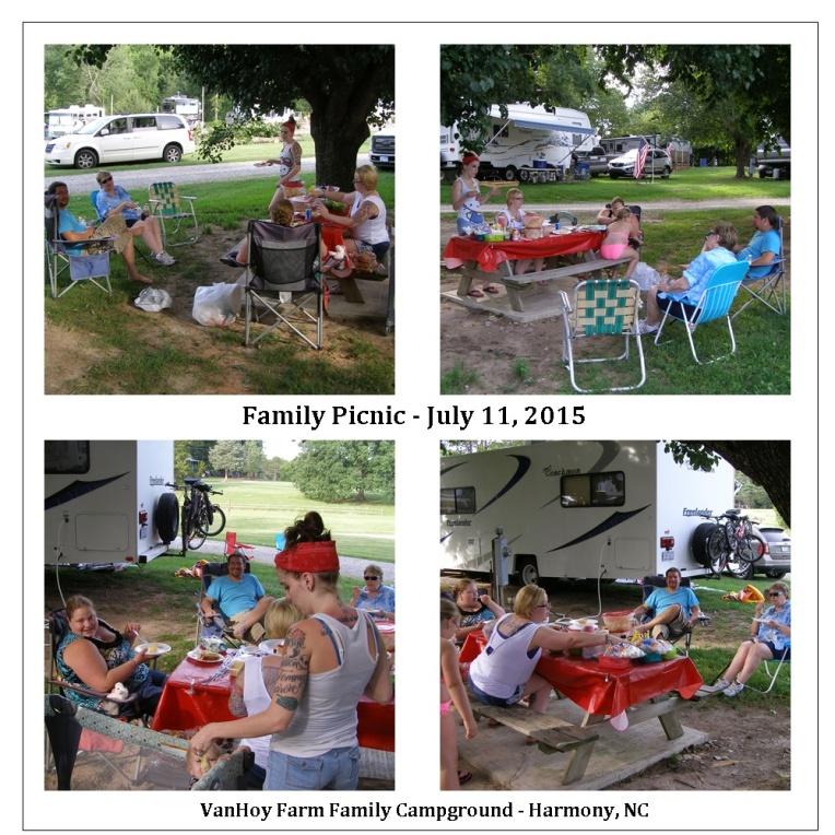 Family picnic in Harmony, North Carolina