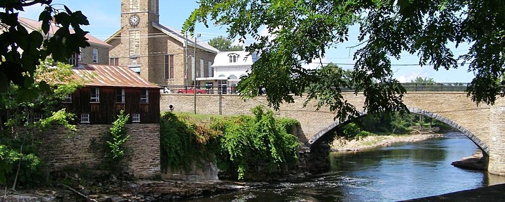 Ausable River runs through Keeseville New York