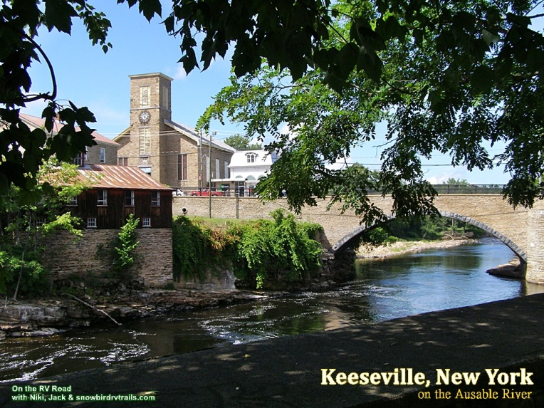 Ausable River runs through Keeseville New York
