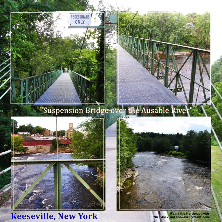 Keeseville Suspension Bridge over the Ausable River