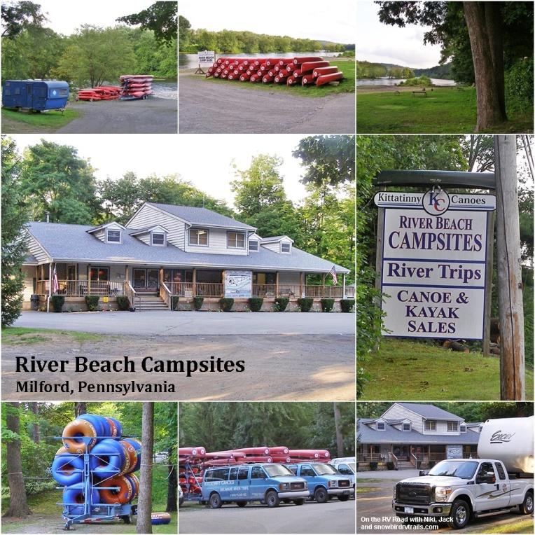 River Beach Campsites in Milford, Pennsylvania