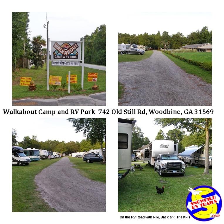Walkabout RV Park in Woodbine, Georgia