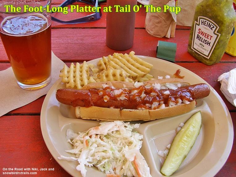 Hot dog platter at Tail O' The Pup in Ray Brook, NY