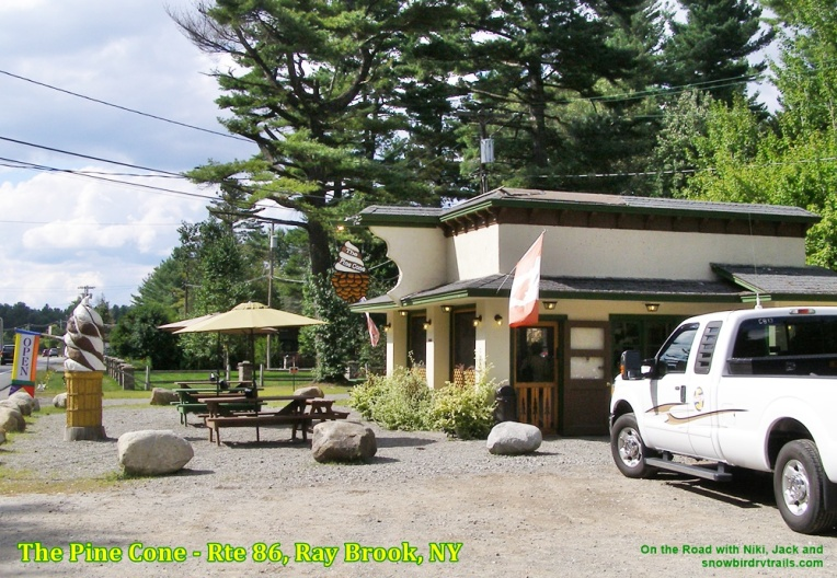 The Pine Cone Ice Cream Parlor in Ray Brook, NY
