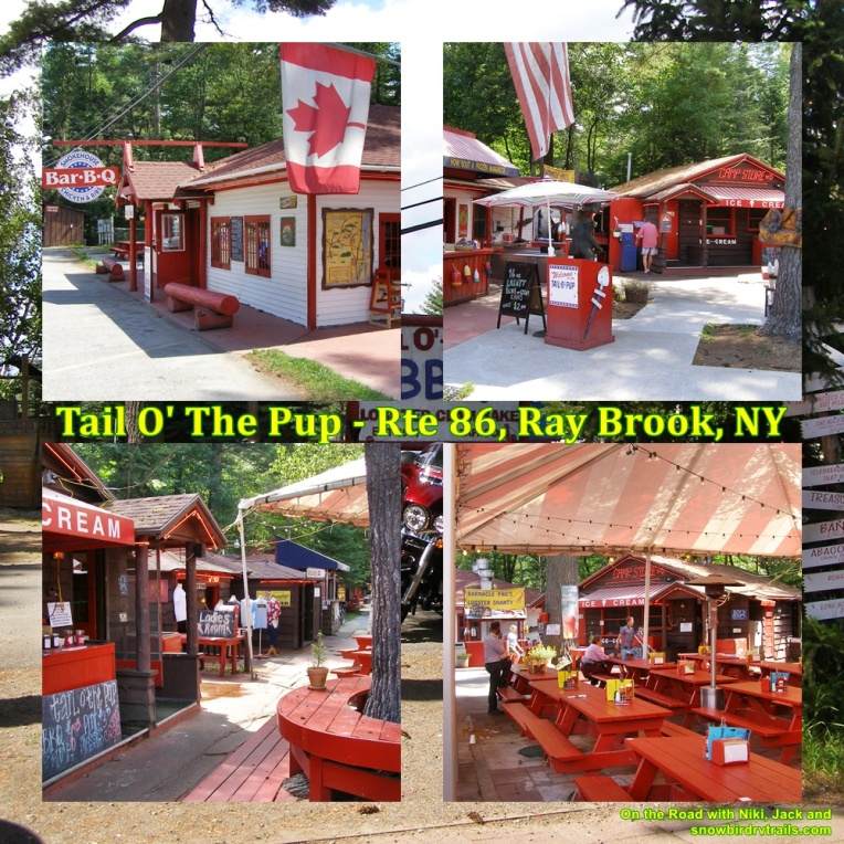 The Tail O' The Pup Restaurant is located in Ray Brook, New York in the Adirondack Mountains