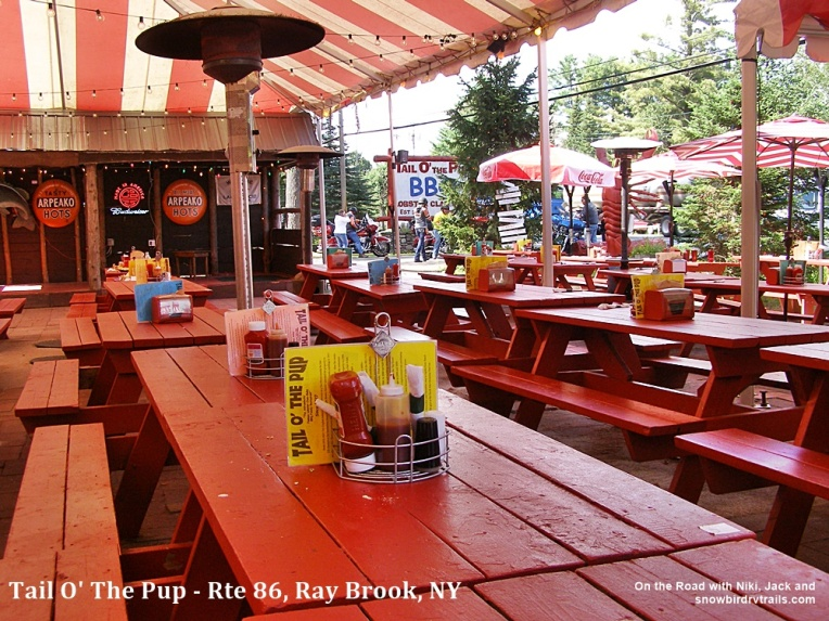 The Tail O' The Pup eatery is located in Ray Brook, New York in the Adirondack Mountains