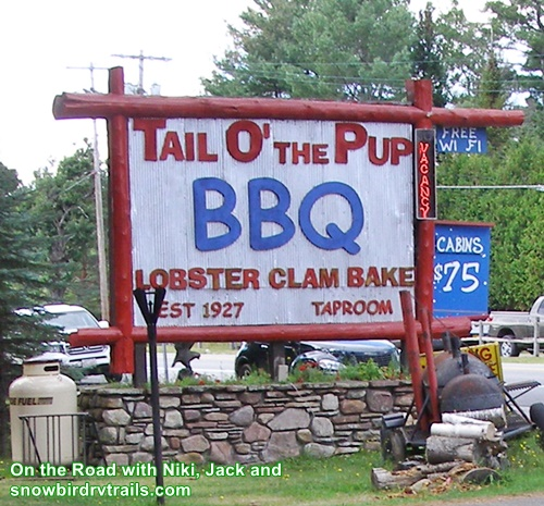 Tail O' The Pup Restaurant on Rte 86 in Ray Brook, NY