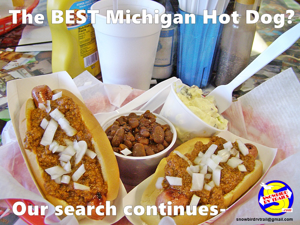 Our search continues for The BEST Michigan Hot Dog