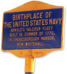 Whitehall, NY - Birthplace of the United States Navy