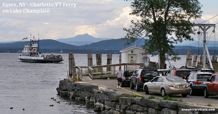 The Essex,NY - Charlotte, VT Ferry on Lake Champlain